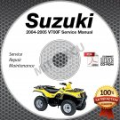 2004-2005 Suzuki LT-V700F Twin Peaks 700 Service Manual CD 99500-46051-01E shop