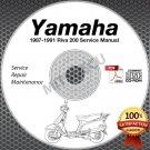 1987-1991 Yamaha RIVA 200 Scooter Service Manual CD ROM repair shop 88 89 90 91