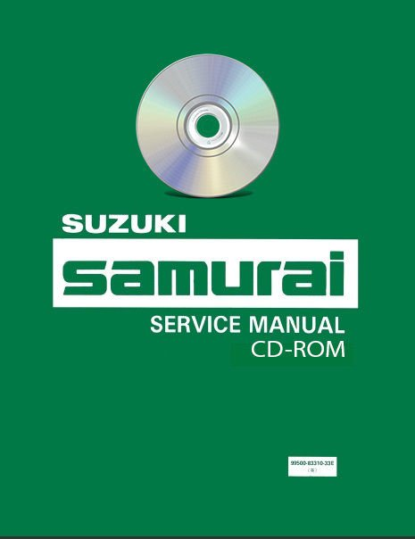 1986-1988 Suzuki Samurai Service Manual CD + Parts Manual workshop repair 1987