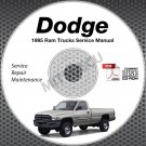 1995 Dodge Ram 1500 2500 3500 Truck Gas + Diesel Service Manual CD shop repair