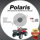 2005 Polaris SPORTSMAN 400/500 Service Manual CD ROM ATV repair shop 9919425