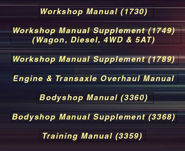 2002-2005 Mazda6 (Europe/UK/AUS) Service Manual CD ROM repair 2003 2004