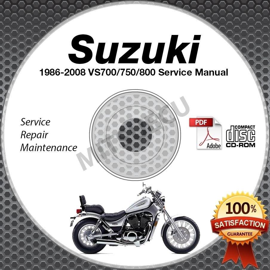 1986-2008 Suzuki VS700 VS750 VS800 Intruder Service Manual CD ROM repair shop