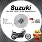 1986-2008 Suzuki VS700 VS750 VS800 Intruder Service Manual CD ROM repair shop