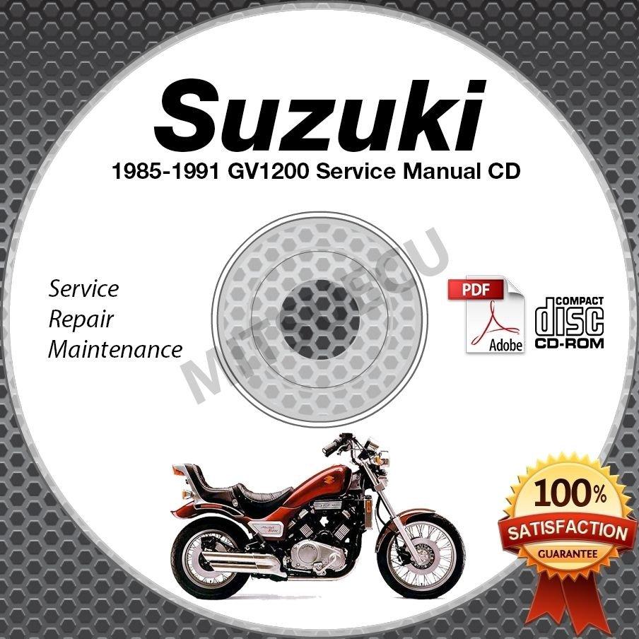 1985-1991 Suzuki GV1200 Madura Models Service Manual CD ROM 1986 1987 1988 1989
