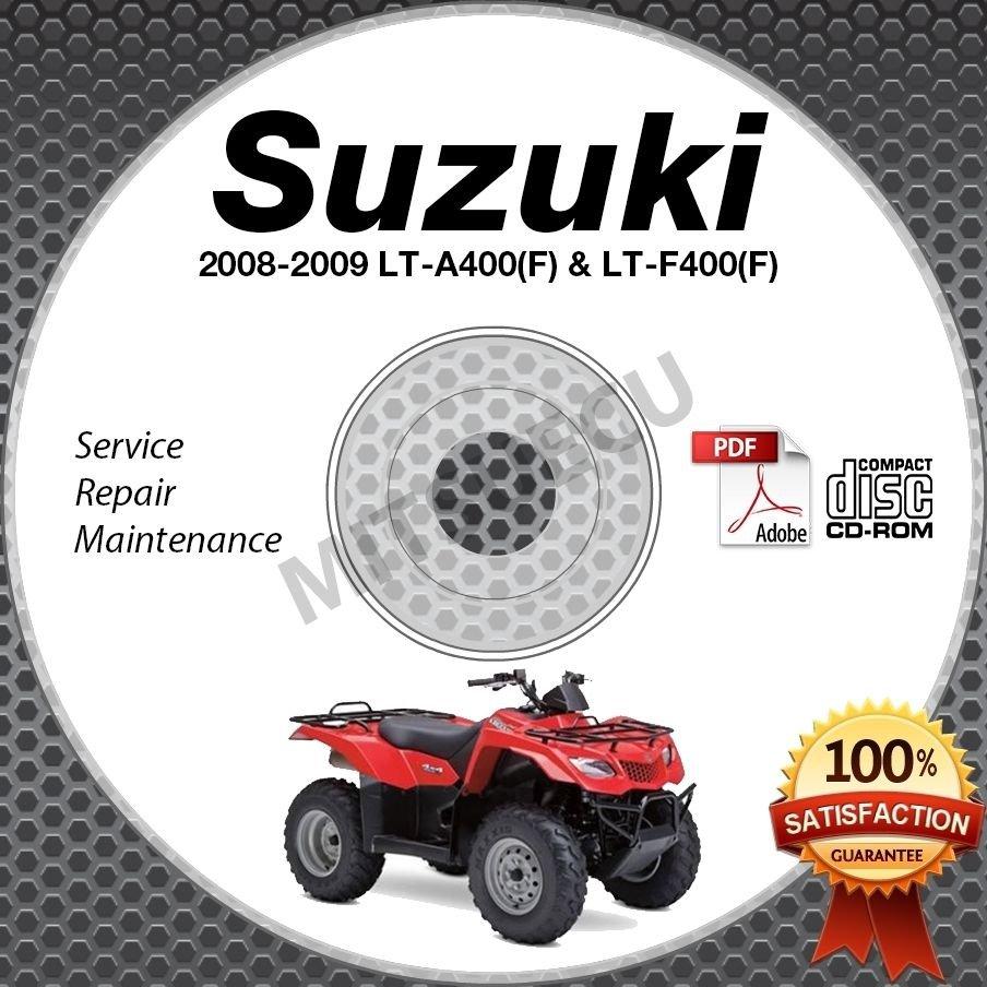 2008-2009 Suzuki LT-A400 (F) + LT-F400 (F) KingQuad Service Manual CD shop repai