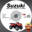 2008-2009 Suzuki LT-A400 (F) + LT-F400 (F) KingQuad Service Manual CD shop repai