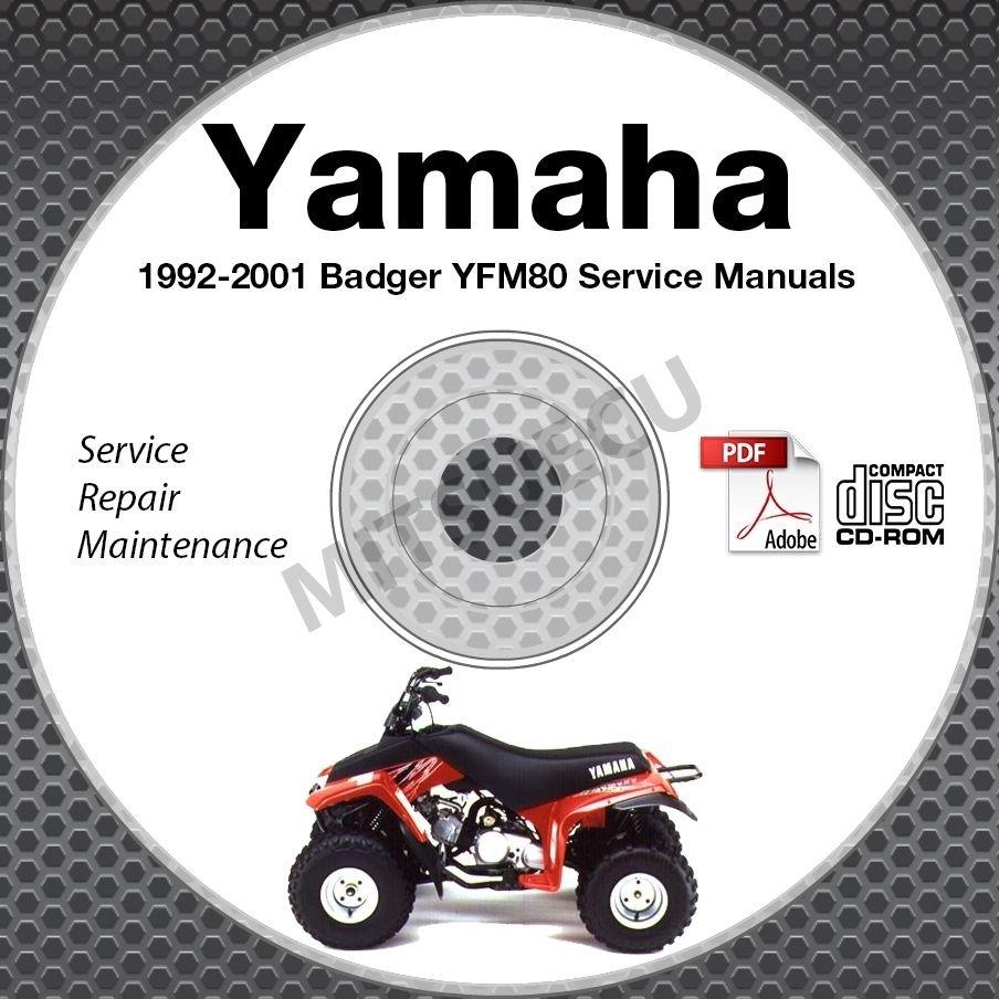 1992-2001 Yamaha BADGER YFM80 Service Manual CD repair shop 93 94 95 96 97 98 99