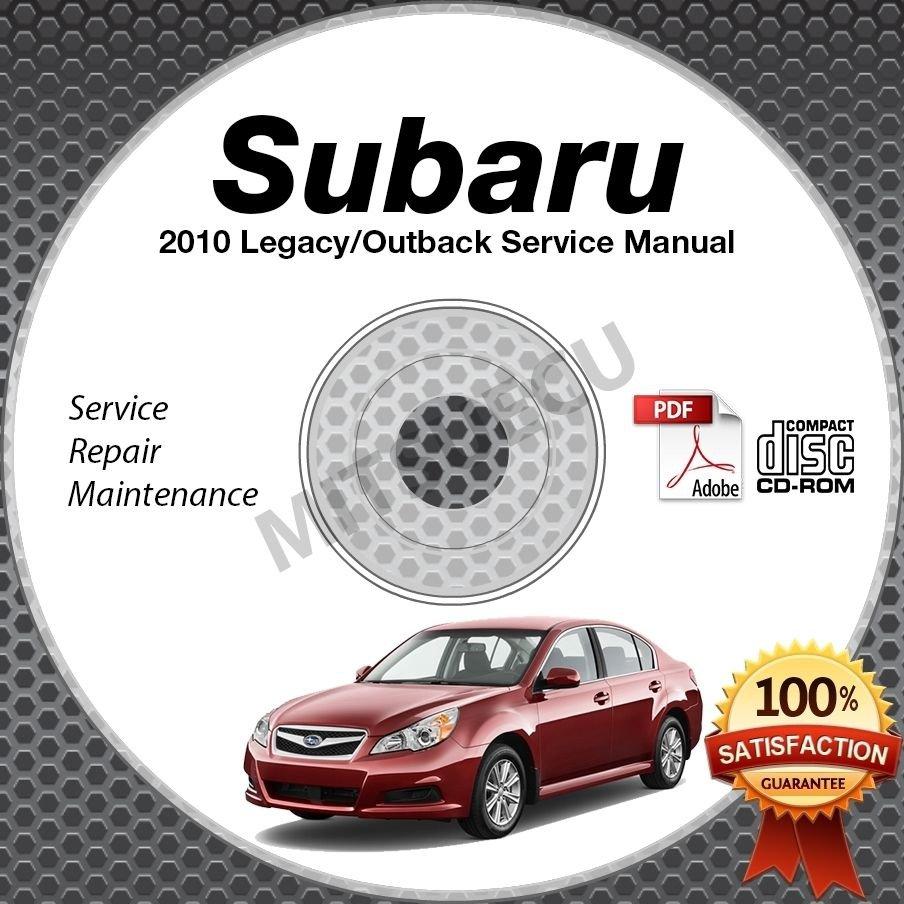 2010 SUBARU LEGACY & OUTBACK OEM Service Manual CD ROM 2.5L 3.6L repair shop