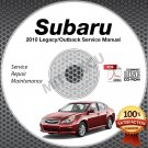 2010 SUBARU LEGACY & OUTBACK OEM Service Manual CD ROM 2.5L 3.6L repair shop