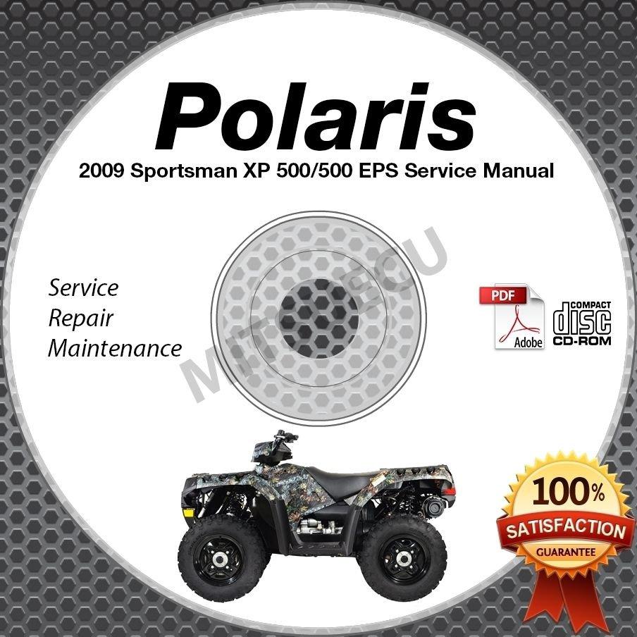 2009 Polaris SPORTSMAN XP 550 (incl EPS) Service Manual CD ROM ATV repair shop
