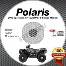 2009 Polaris SPORTSMAN XP 550 (incl EPS) Service Manual CD ROM ATV repair shop