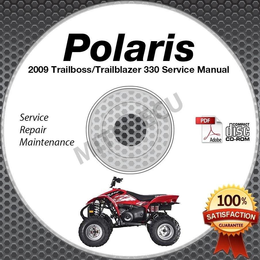 2009 Polaris Trail Boss & Trail Blazer 330 Service Manual CD ROM ATV repair shop