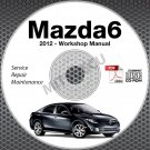 2010 Mazda6 Service Manual CD ROM workshop repair MZR 2.5L 3.7L NEW!