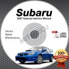 2007 SUBARU IMPREZA Sedan WRX STi Wagon Service Manual CD ROM 2.5L