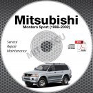 1999-2002 Mitsubishi Montero Sport Service Repair Manual CD & Free BONUS