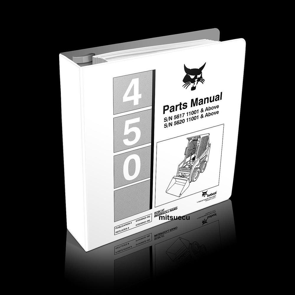 bobcat 450 f series skid steer loader parts manual 6724364 (3-00) catalog  new