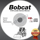 Bobcat S100 Skid Steer Loader Service Manual CD ROM (S/N A2G7/A89L 11001+) shop