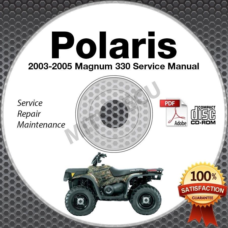 2003-2005 Polaris Magnum 330 Service Manual CD ROM 2x4 4x4 HDS repair 2004 ATV