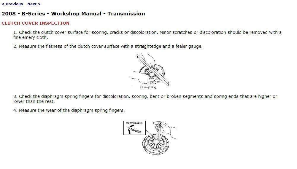 2008 Mazda B-Series Trucks Service Manual CD ROM workshop repair B2300 B4000