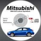 2009-2013 Mitsubishi Lancer Sportback Wagon Service Manual CD repair 2010 2011