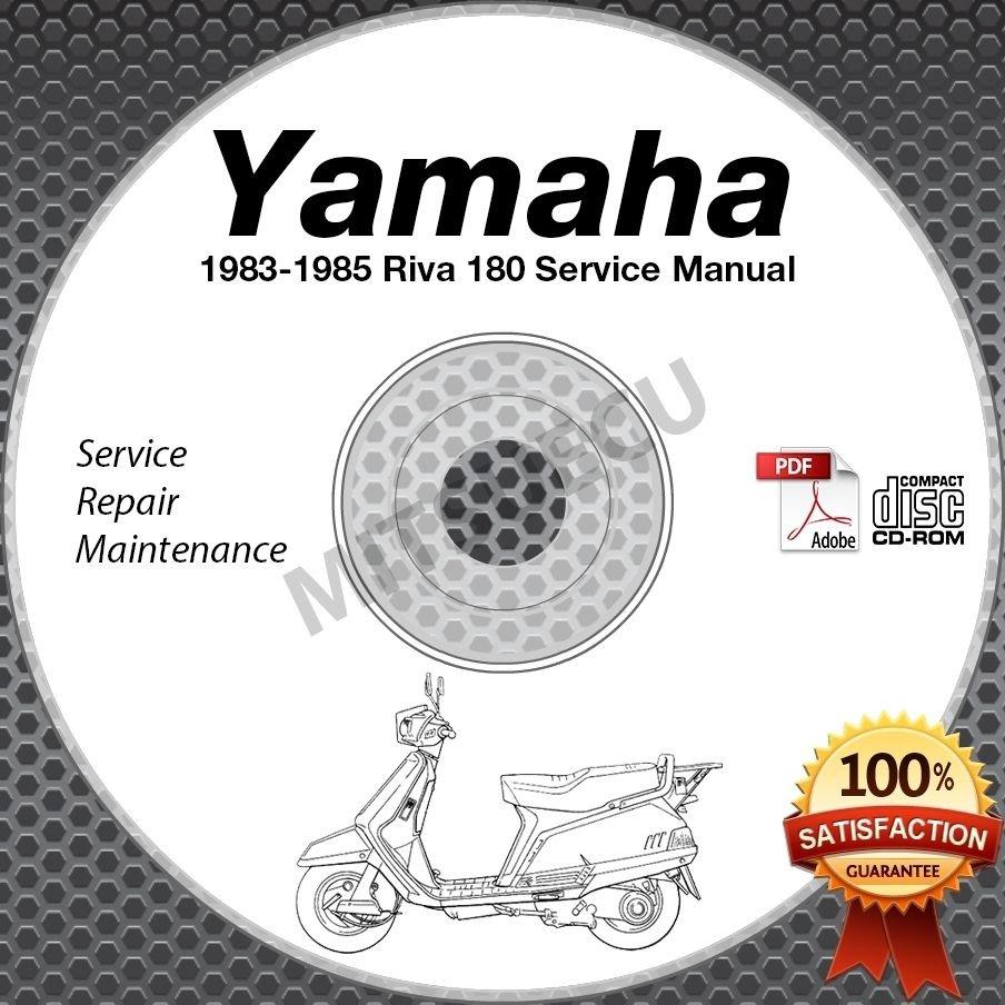 1983 1984 1985 Yamaha RIVA 180 Scooter Service Manual CD repair shop XC180