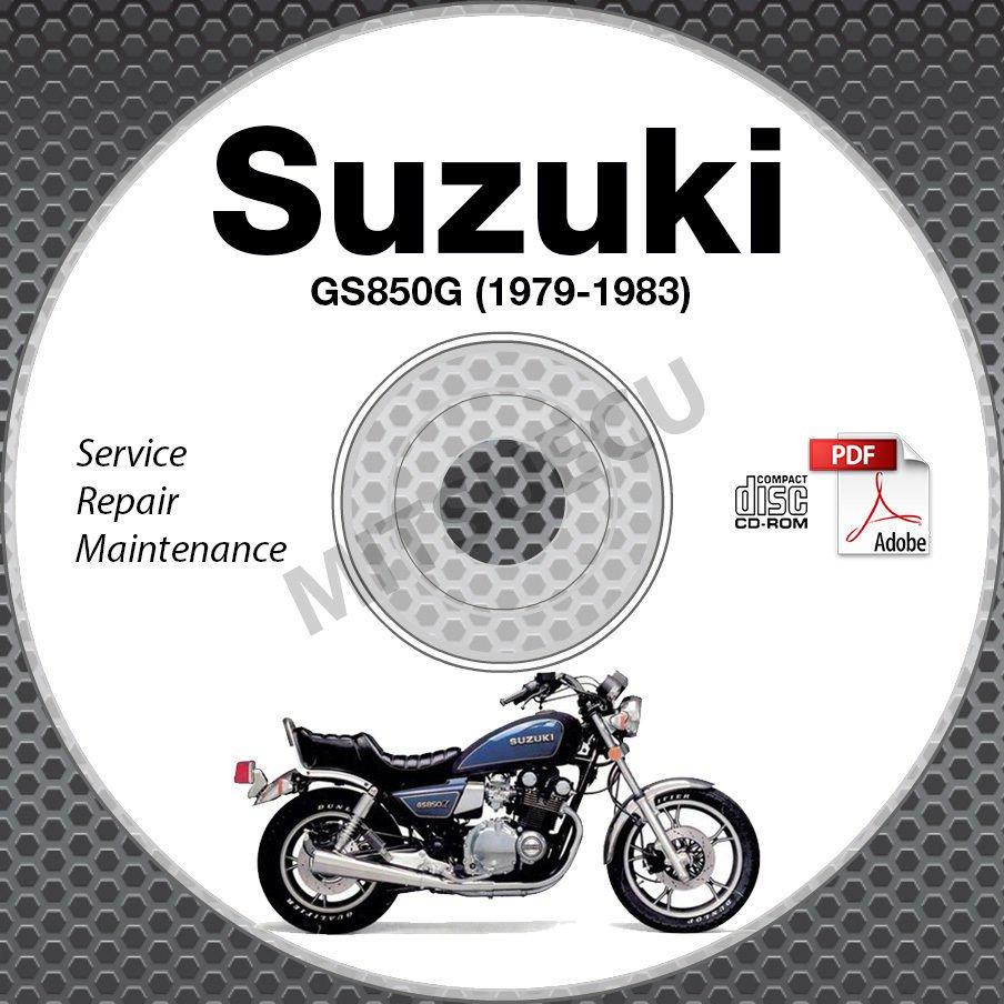 1979-1983 Suzuki GS850 Service Manual CD ROM Repair GS850GT GS850G 80 81 82