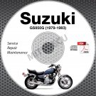 1979-1983 Suzuki GS850 Service Manual CD ROM Repair GS850GT GS850G 80 81 82