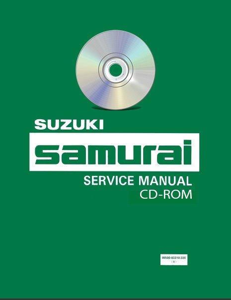 1990-1994 Suzuki Samurai Service Manual + Parts CD workshop repair 1991 1992 93