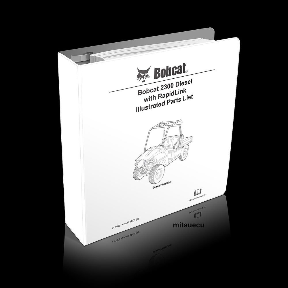 Bobcat 2300 RapidLink UTV Parts Manual 103209014 (SN A59W 11001+) catalog new