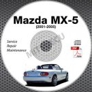2001-2005 Mazda Miata MX-5 1.8L VVT Service Repair Manual CD ROM 2002 2003 2004