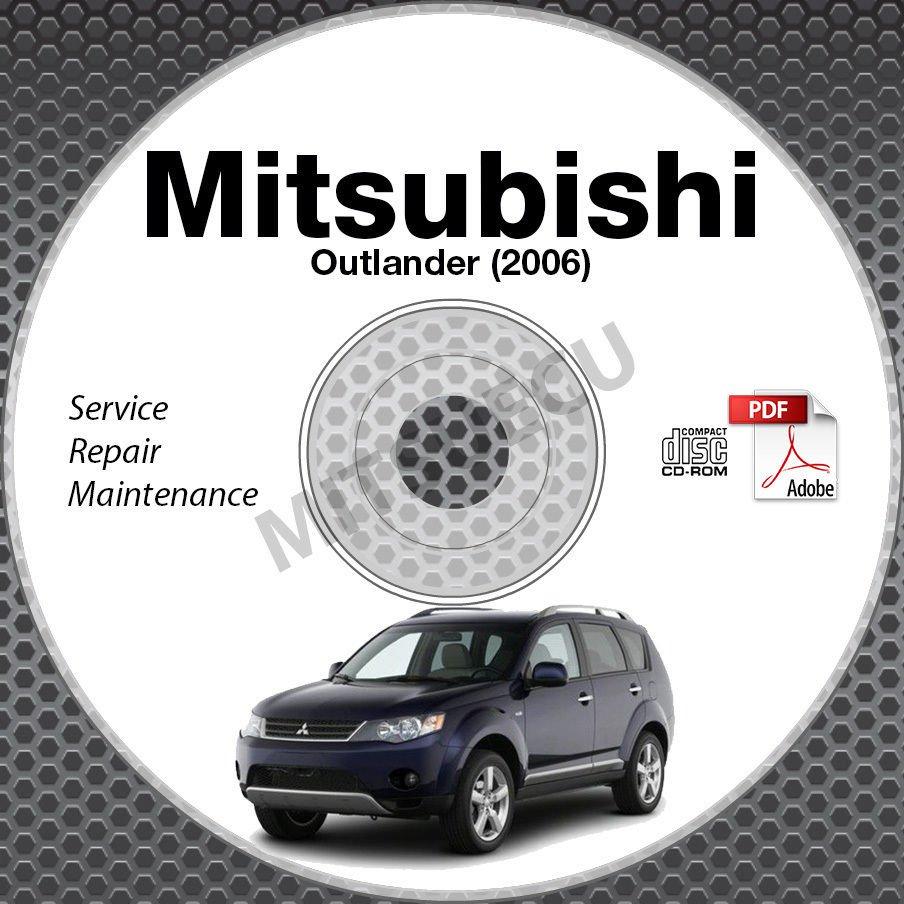 2006 Mitsubishi Outlander USA/ EUROPE Service Manual CD ROM repair workshop