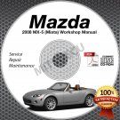 2008 Mazda Miata MX-5 Service Manual CD Workshop Repair 2.0L NC *NEW* High Def