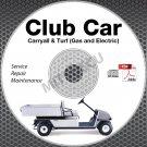 2008-2012 Club Car Carryall / Turf 1, 2, 6 Service Manual CD ROM Gas + Electric