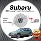 2005 Subaru LEGACY & OUTBACK Service Manual CD ROM 2.5L 3.0L repair shop