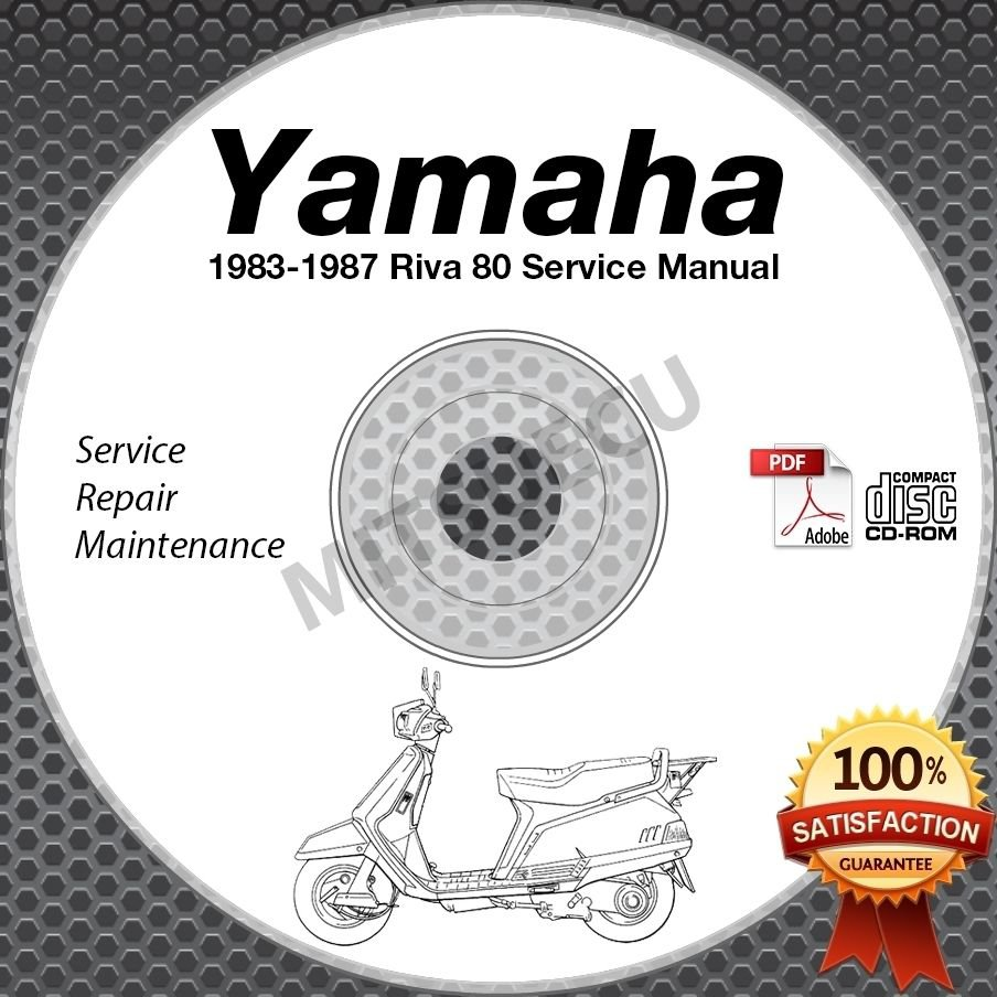 1983-1987 Yamaha RIVA 80 Scooter Service Manual CD ROM repair shop CV80 84 85 86