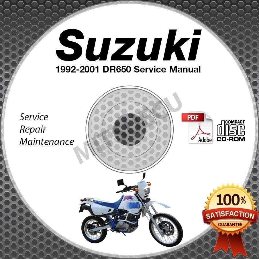 1992-2001 Suzuki DR650 DR650RS/SE Service Manual CD ROM Repair 00 99 98 97 96 95