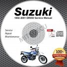 1992-2001 Suzuki DR650 DR650RS/SE Service Manual CD ROM Repair 00 99 98 97 96 95