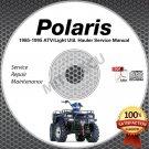 1985-1995 Polaris Trail Boss/Blazer/Big Boss Service Manual CD ROM repair shop