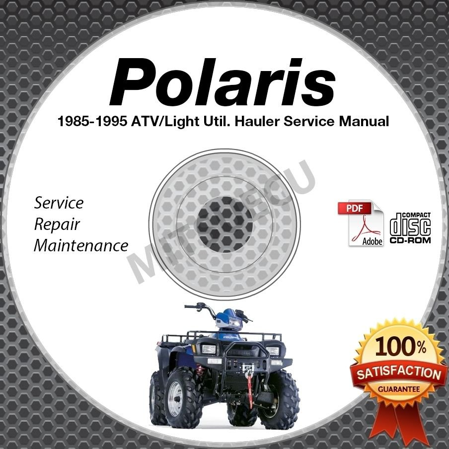 1985-1995 Polaris ATV and Light Utility Hauler Service Manual CD ROM repair shop