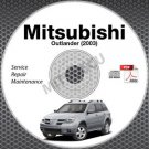 2003 Mitsubishi Outlander EUROPE Service Manual CD ROM repair workshop