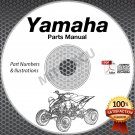 1991-2004 Yamaha WARRIOR yfm350x atv PARTS MANUAL CD ROM spare catalog *new*
