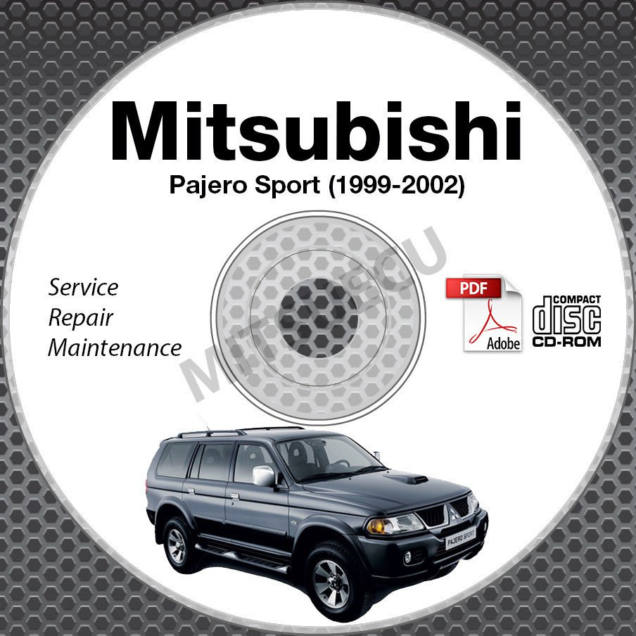 1999-2002 Mitsubishi Pajero Sport Service Manual CD ROM workshop 2000 2001