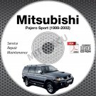 1999-2002 Mitsubishi Pajero Sport Service Manual CD ROM workshop 2000 2001