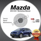 2012 Mazda CX-7 Service Manual CD 2.5L 2.3L Turbo repair workshop cx7