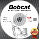 Bobcat 442 Mini Excavator Service Manual CD ROM (Serial #s Listed) repair shop
