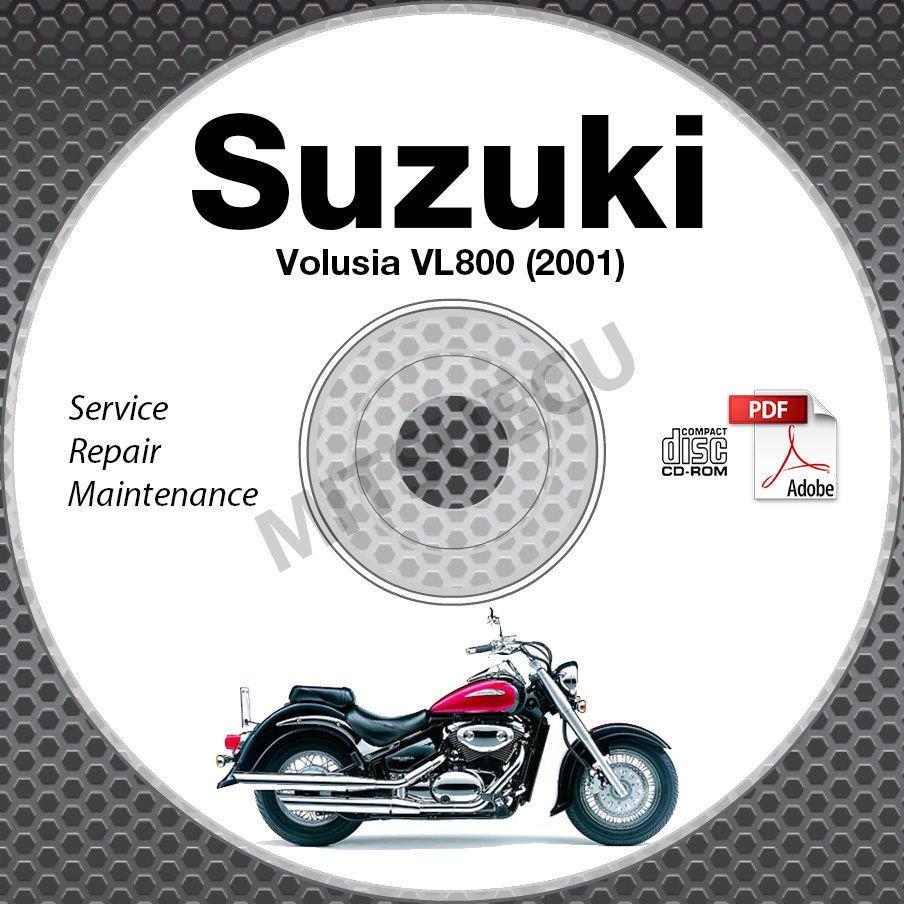 2001 Suzuki VL800 Intruder Volusia Service Manual CD ROM Repair