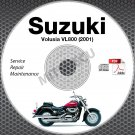 2001 Suzuki VL800 Intruder Volusia Service Manual CD ROM Repair