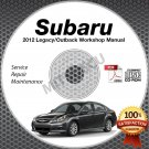 2012 SUBARU LEGACY & OUTBACK Service Manual CD ROM 2.5L 3.6L repair shop