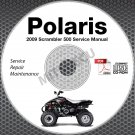 2009 Polaris Scrambler 500 2x4 4x4 ATV Service Manual CD ROM repair shop